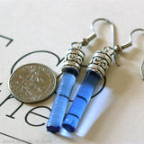 Glass Cylinder Drop Dangle Earrings
