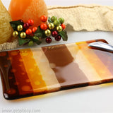 Autumn Cheese Board Fused Glass