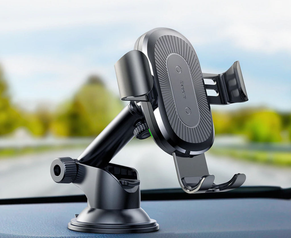 2 in1 Qi Wireless Car Charger for iPhone X XS XR Samsung S9 ,Quick Wireless Charging Charger Car Mount Mobile Phone Holder