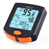 Wired Bike Computer Waterproof Bicycle Speedometer Large LCD Screen Display