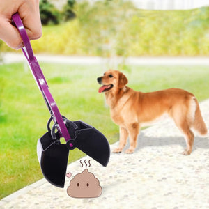 Dog Poop Scooper Pickup Clip Yard Cleaning Shovel Tool