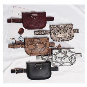 Leather Waist Bag Snake Skin fashion