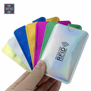 Anti Rfid Wallet Blocking Reader Lock Bank Card Holder Id