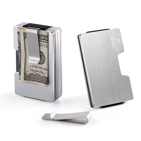 Men Aluminum Alloy Wallet Wallet RFID Blocking Slim Cash Credit Card Holder Purse WML99