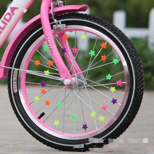 Bicycle Wheel Spoke Colorful Plastic Bead Multi Color Children Clip Decoration