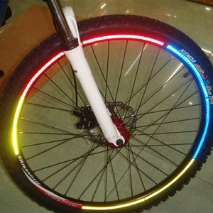 Bicycle reflector Fluorescent MTB Bike  Cycling Wheel Rim Reflective Stickers