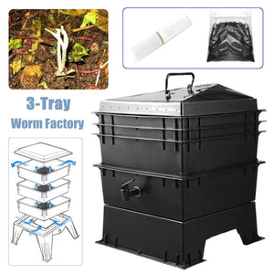 80L PP Kitchen Waste Earthworm Compost Box