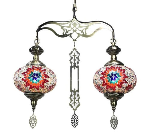 MOROCCAN TURKISH MOSAIC CHANDELIER