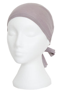 GREY TIE UP BONNET