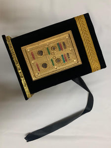 VELVET QURAN AND BOX - BLACK