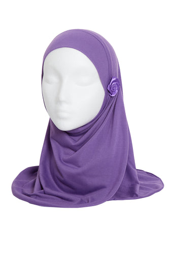 LAVENDER GIRLS FLOWER HIJAB