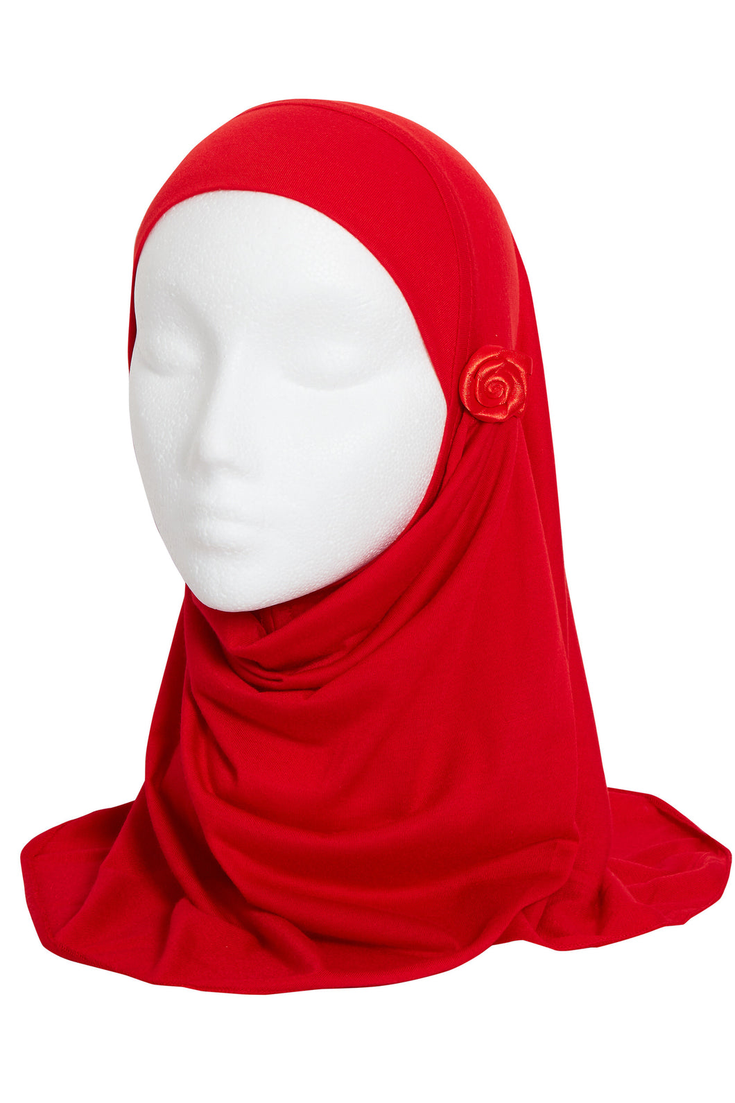 RED GIRLS FLOWER HIJAB