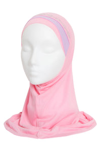 GIRLS BABY PINK/LILAC DIAMOND HIJAB
