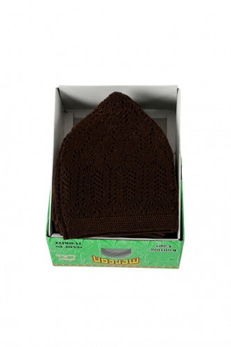 CHOCOLATE BROWN NET HAT