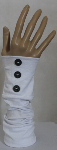 WHITE BUTTON SLEEVE