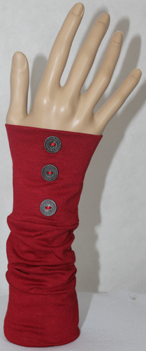 RED BUTTON SLEEVE