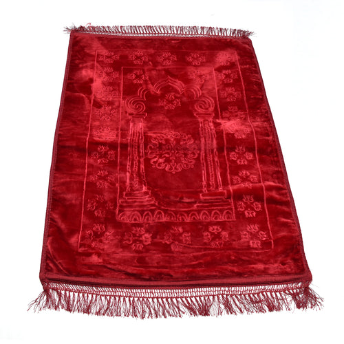 Red Velvet Prayer Mat