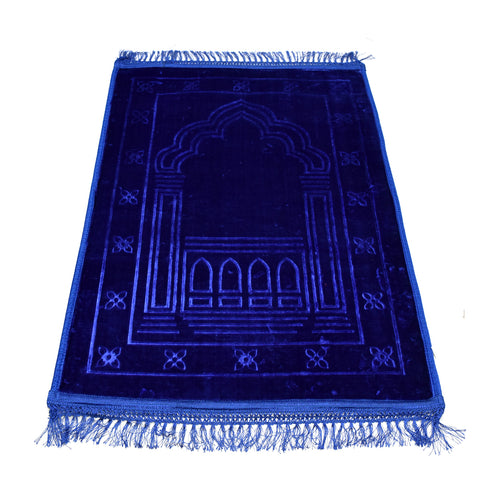 Royal Blue Velvet Prayer Mat