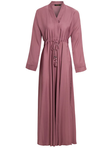 DUSTY ROSE FOZIA ABAYA