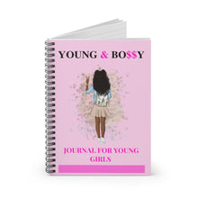 Load image into Gallery viewer, Young & Bossy Spiral Notebook - Ruled Line