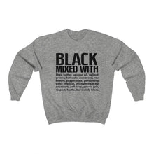 Load image into Gallery viewer, Black Mixed With Unisex Crewneck Sweatshirt