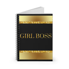 Load image into Gallery viewer, Girl Boss Spiral Notebook - Ruled Line