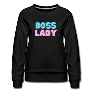 Boss Lady Women's Premium Sweatshirt - black