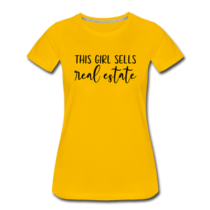 Real Estate Women's Premium T-Shirt - sun yellow