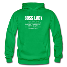 Load image into Gallery viewer, Boss Lady Unisex Adult Hoodie - kelly green