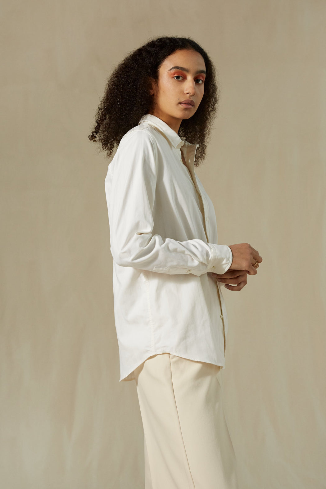 INES SHIRT OFF-WHITE WITH STRIPE