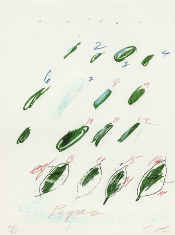 Cy Twombly Natural History Bastian Gallery