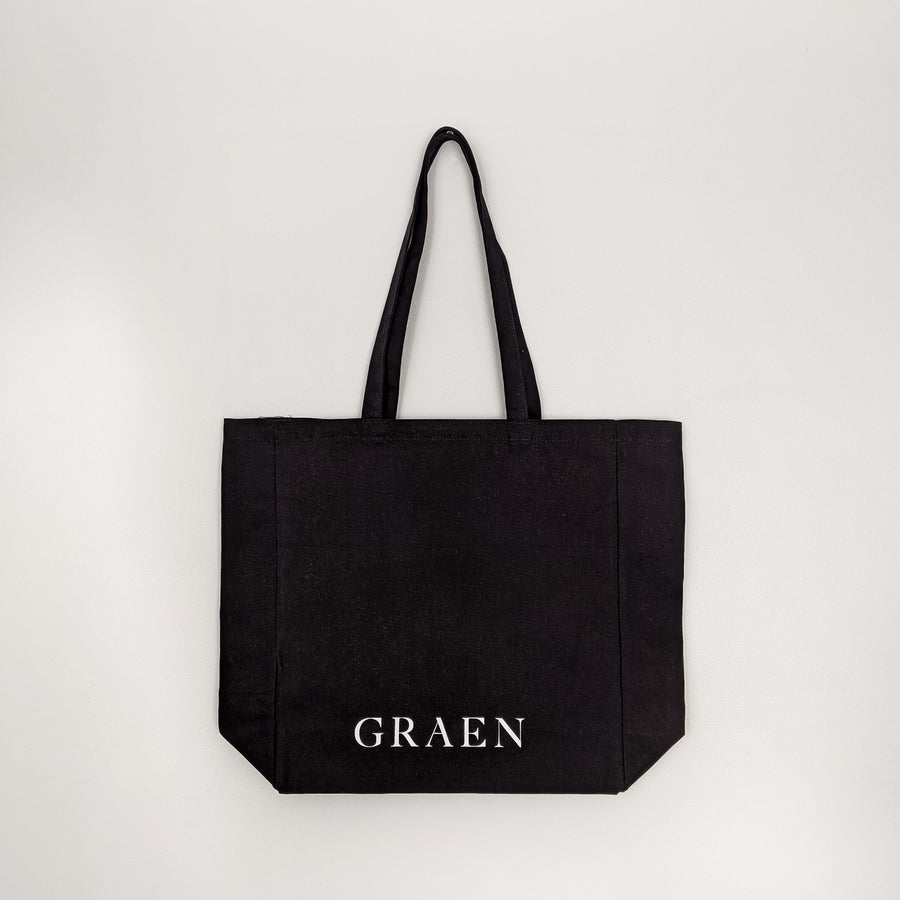 Graen Studios Black Canvas Logo Tote Bag Product Image