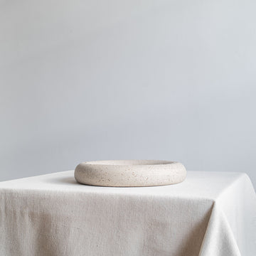 Minimal Raw Ceramic Ikebana Circle Vase