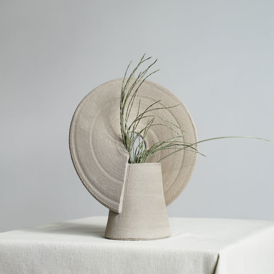 Graen Exclusive Grey Sculptural Ceramic Rainbow Vase