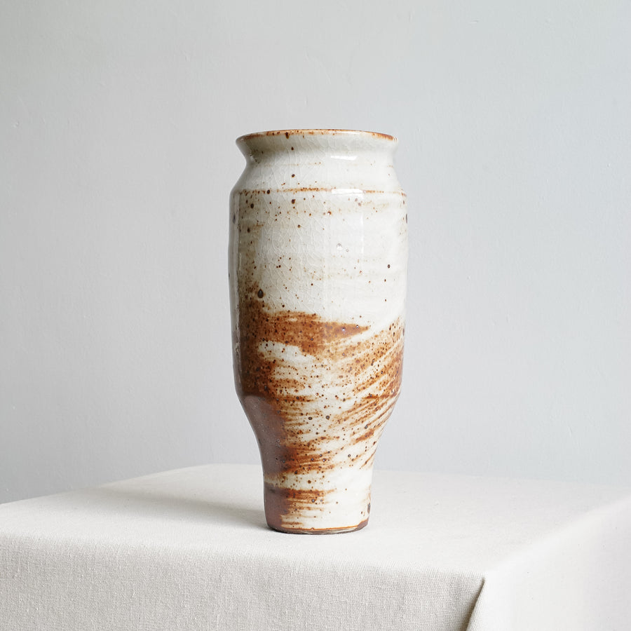 Large Reduction Fired Ceramic Brushwork Vase