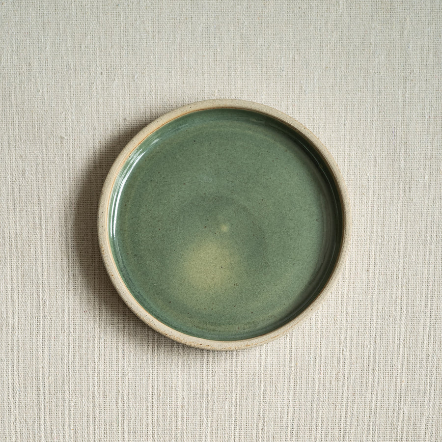 Small Ceramic Plant Pot with Saucer
