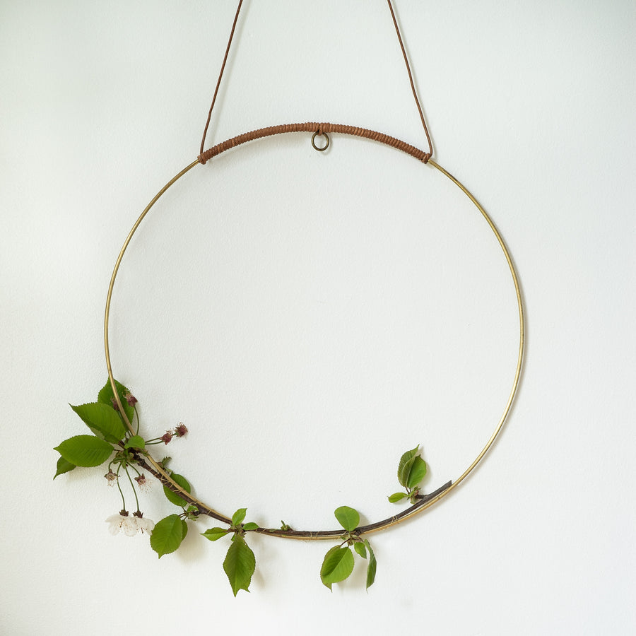 Brass Hanging Plant Halo