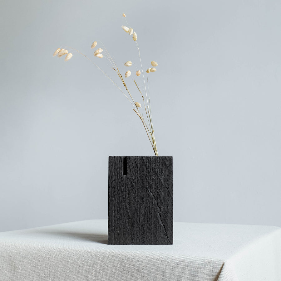 Black Burnt Oak Ikebana Vase