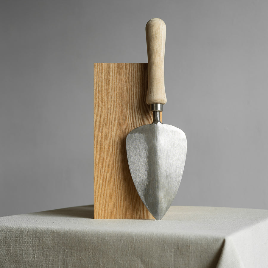 Stainless Steel Transplanting Trowel with Ash Wood Handle