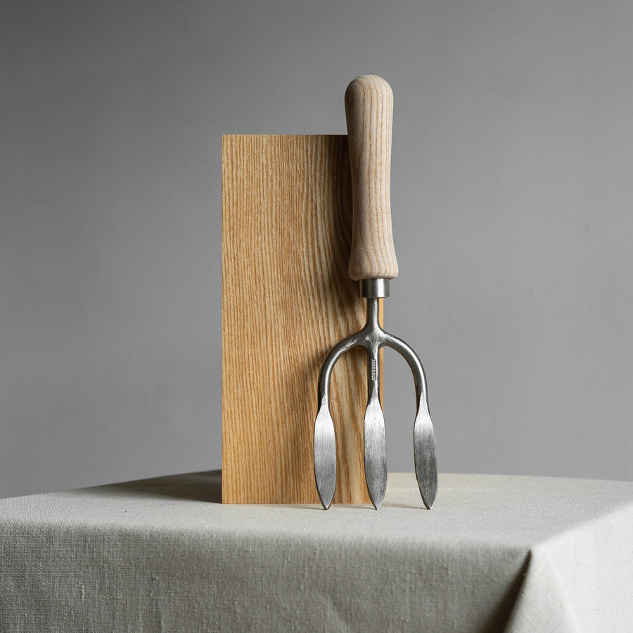 Stainless Steel Weeding Fork with Ash Wood Handle