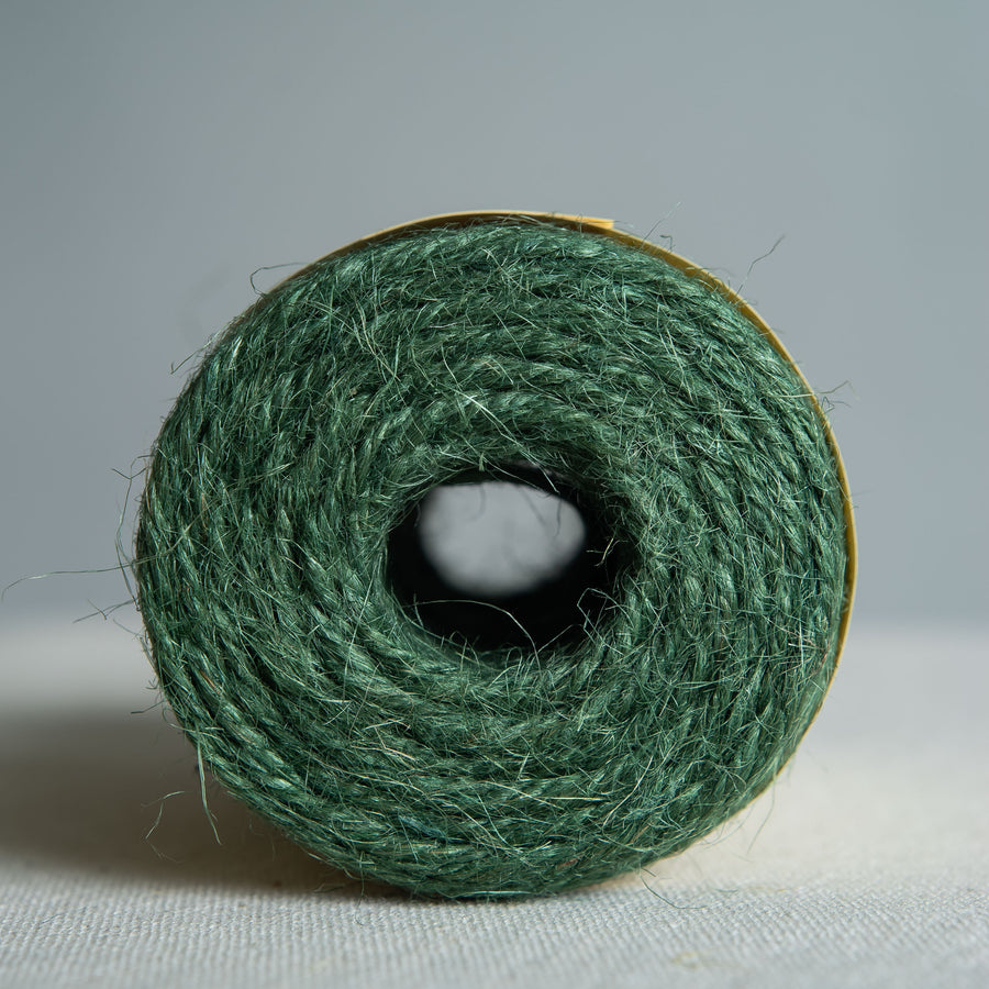 Green Coloured Heritage Jute Twine Spool 110m
