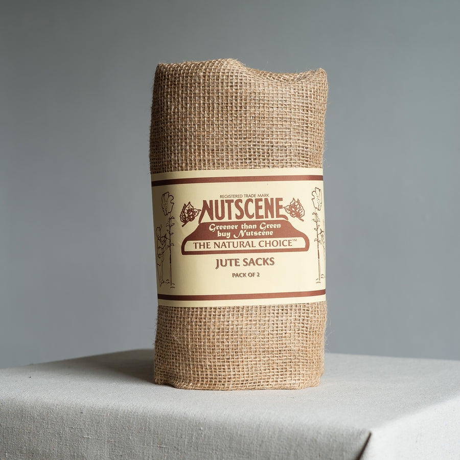 Pair of Natural Hessian Jute Garden Storage Sacks