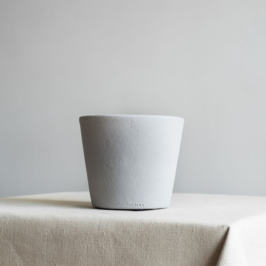 Small Light Grey Painted Plant Pot