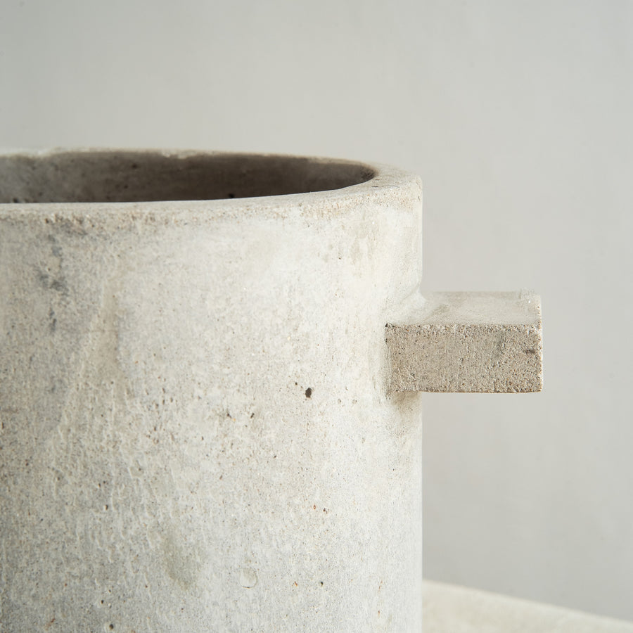Medium Concrete Plant Pot with Handles