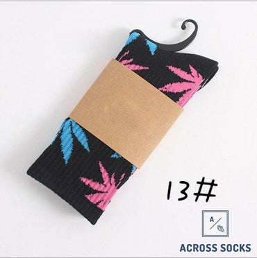 Maple Leaf Premium Cotton Socks Black/blue/pink / One Size Socks