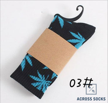 Maple Leaf Premium Cotton Socks Black/teal / One Size Socks