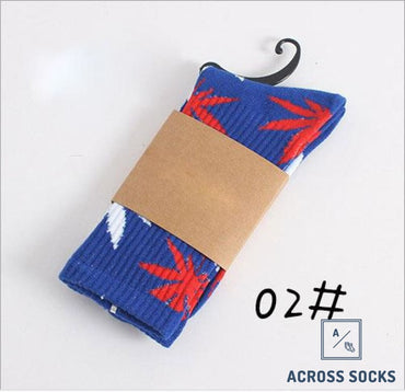 Maple Leaf Premium Cotton Socks Blue/red/white / One Size Socks