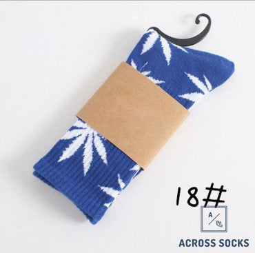 Maple Leaf Premium Cotton Socks Blue/white / One Size Socks