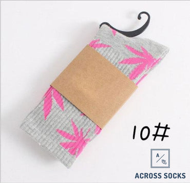 Maple Leaf Premium Cotton Socks Grey/pink / One Size Socks