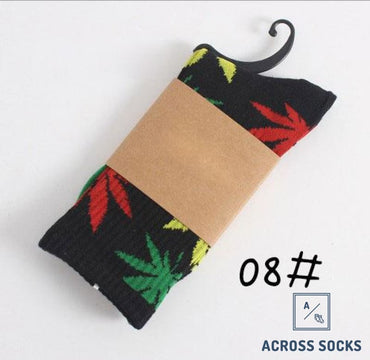 Maple Leaf Premium Cotton Socks Rasta / One Size Socks